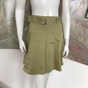 Elevenses Green Yellow Cargo Belted Skirt SZ 10